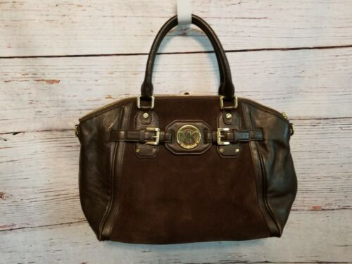 Authentic Michael Kors Soft Brown Leather & Suede