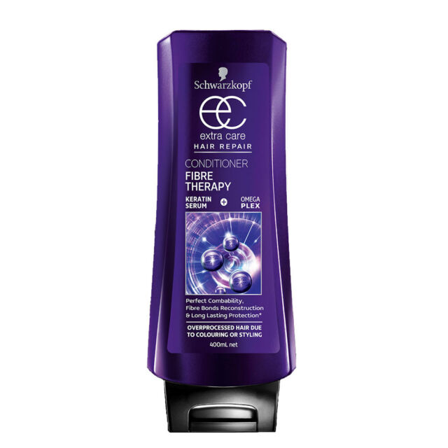 SCHWARZKOPF EXTRA CARE HAIR REPAIR CONDITIONER FIBRE THERAPY 400ML KERATIN SERUM