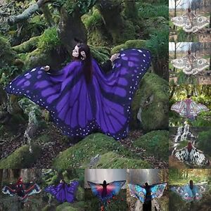 Women-039-s-Soft-Long-Butterfly-Wing-Cape-Scarf-Large-Wrap-Shawl-Scarves-Fashion