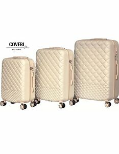 Trolley Set 3 Valigie Da Viaggio Rigida ABS Coveri Moving Beige