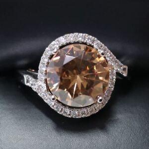3-Ct-Round-Yellow-Citrine-Ring-Women-Wedding-Jewelry-14K-White-Gold-Plated