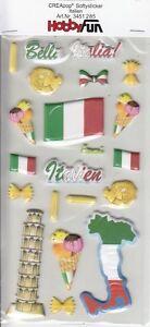 CREApop-Softy-Sticker-Bogen-HobbyFun-HF285-Urlaub-Italien