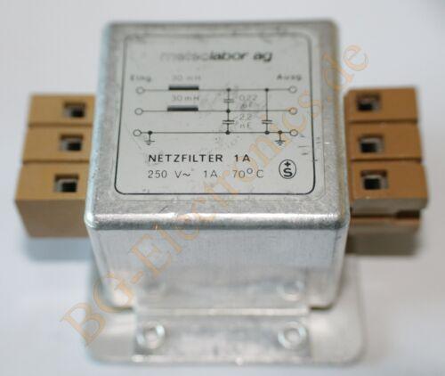 1 x Netzfilter 250V 1A Netzfilter  Meteolabo  1pcs