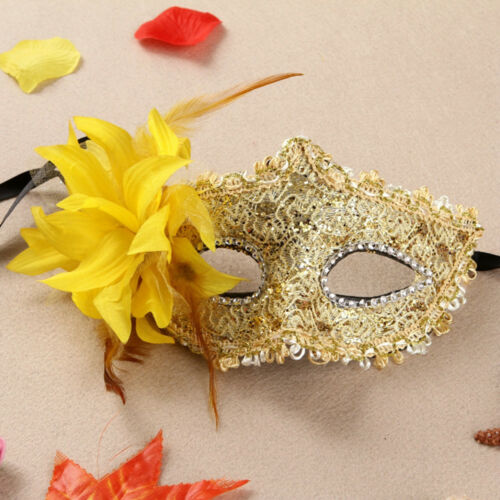 Women Men Black Lace Eye Face Mask Masquerade Party Ball Prom Costume Charm