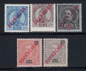 Cape-Verde-1911-12-MH-80-King-Charles-I-Republic