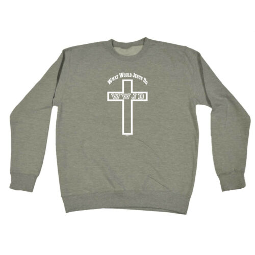 Divertente Novità Felpa Maglione Top-Cross Cosa Farebbe Gesù