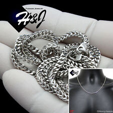 """20""""MEN 925 STERLING SILVER 2.5MM SILVER FRANCO BOX CURB LINK CHAIN NECKLACE*SN8"""