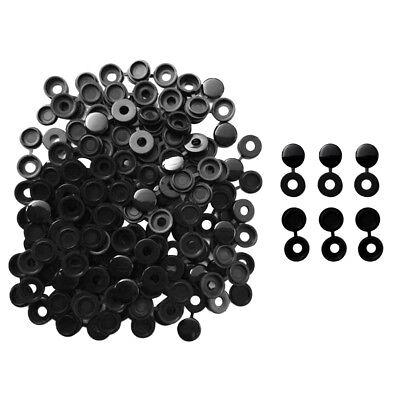 50Pc Hinged Plastic Screw Fold Caps Button For Car Furniture Decorative CovIJ