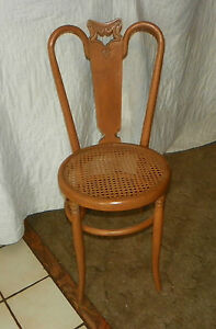 Considerate Quartersawn Oak Carved Desk Chair sc137 Relieving Rheumatism Sidechair With Caned Seat
