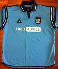 Le Coq Sportif MANCHESTER CITY 2002/03 Home L Soccer Jersey Football Shirt