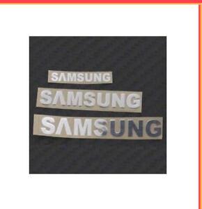 1x-Plata-Samsung-Pegatina-TV-Laptop-para-Ipad-Telefono-Movil-90-Mm-x-13-mm-Aprox-Nota-78