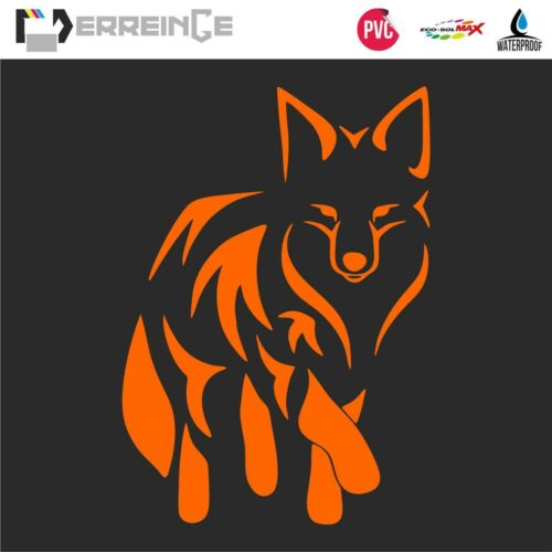 Sticker FOX Adhesive Wall Decal Laptop Camper Animal Car Motor Auto Scooter