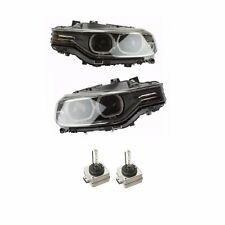 BMW F30 Set of Left & Right Headlight Assembly Bi-Xenon Adaptive with Bulbs OEM