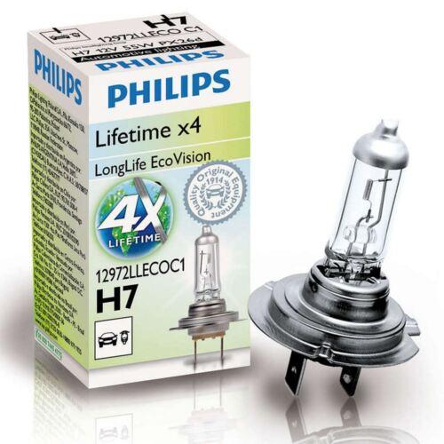 PHILIPS H7 LongLife EcoVision 12V 55W PX26d Car Headlights Bulb Single