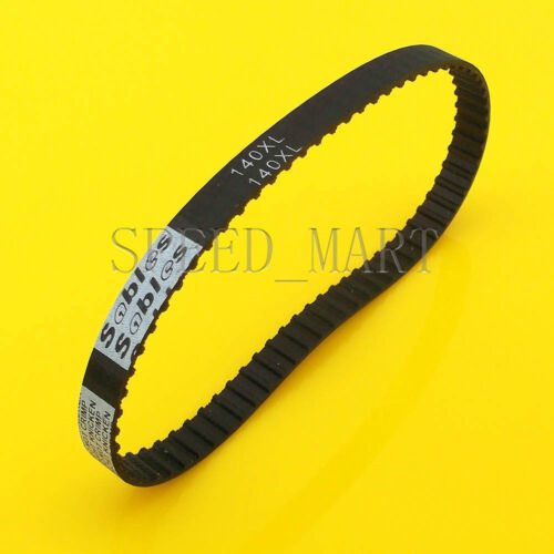 140XL 140XL037 Timing Belt 70 Teeth Black Cogged Rubber Geared Belt 10mm Wide