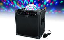 Ion Audio Party Rocker Plus Bluetooth Speaker DJ Rechargeable Lights App Control