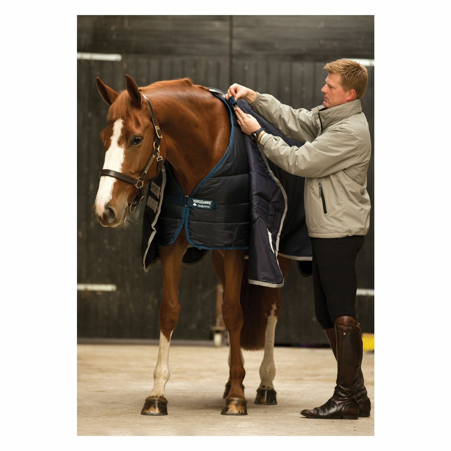 %% Horseware Rambo sous couverture Duo Liners, liner Navy 100 200 300 400 g 125-165 cm