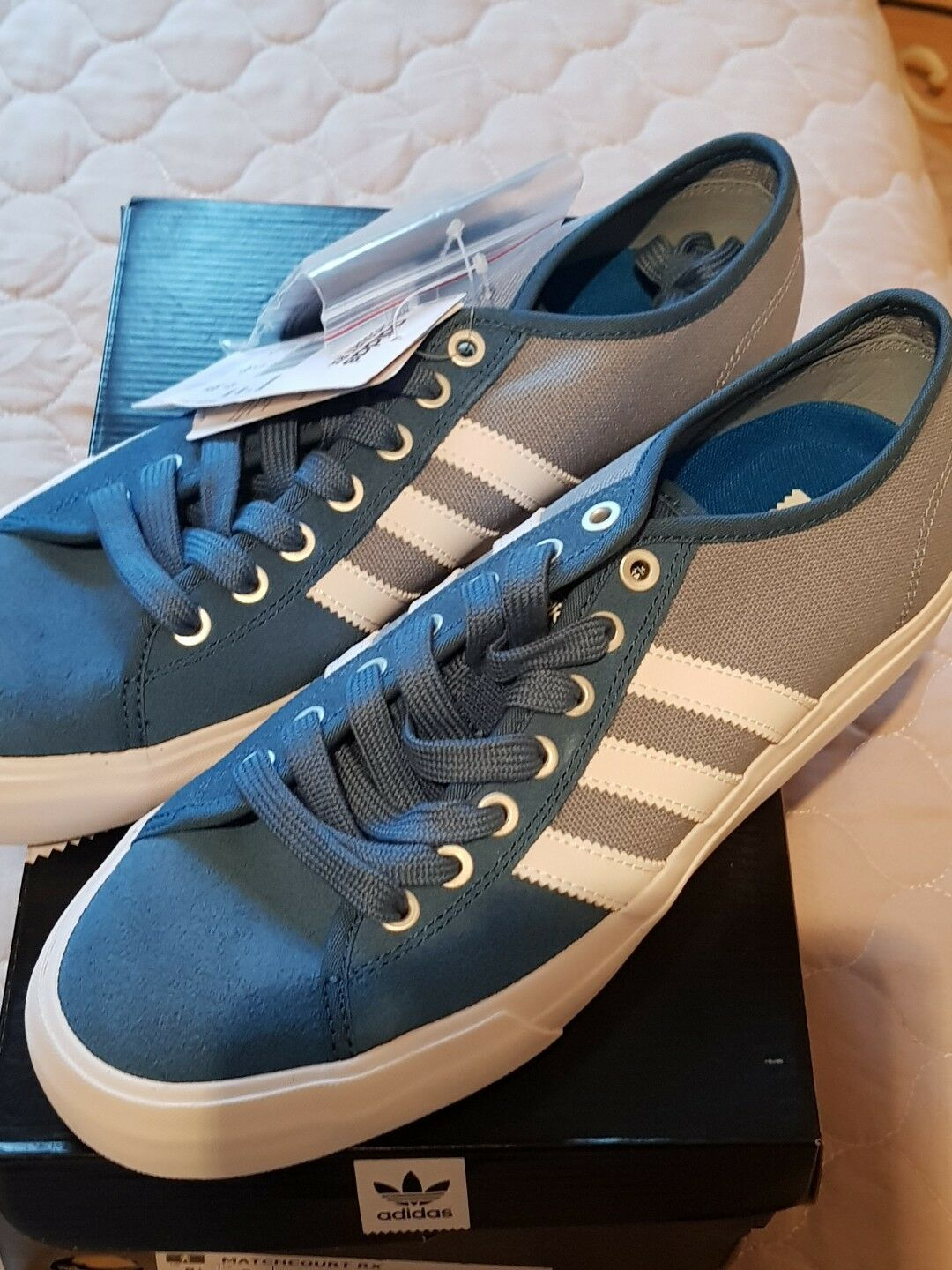 ADIDAS MENS SKATEBOARDING MATCHCOURT RX.TRAINERS.COL.BLUE/WHITE.BNWT.SIZE.UK.8 Special limited time
