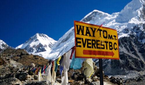 Encadrée Imprimer-Mont Everest camp de base photo poster panoramique montagne art