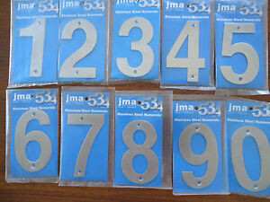 Building 10cm Door No 554 Stainless Steel House Numbers SCREW on House