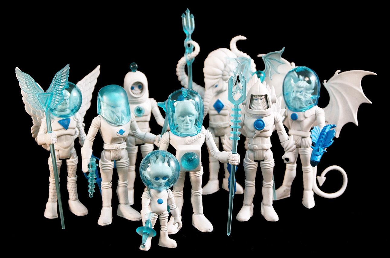 Farbeforms Aliens Four Horsemen Outer Space Men SDCC Exclusive Weiß Star Set