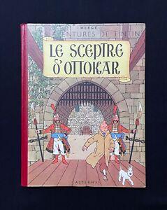 Hergé Tintin le Sceptre d'Ottokar B2 ED 1948 Très très bon état +