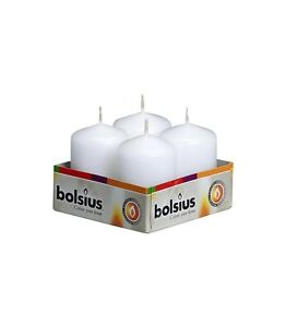 PACK-OF-4-BOLSIUS-WHITE-60MM-x-40MM-PILLAR-CANDLES-IDEAL-4-WEDDING-PARTY