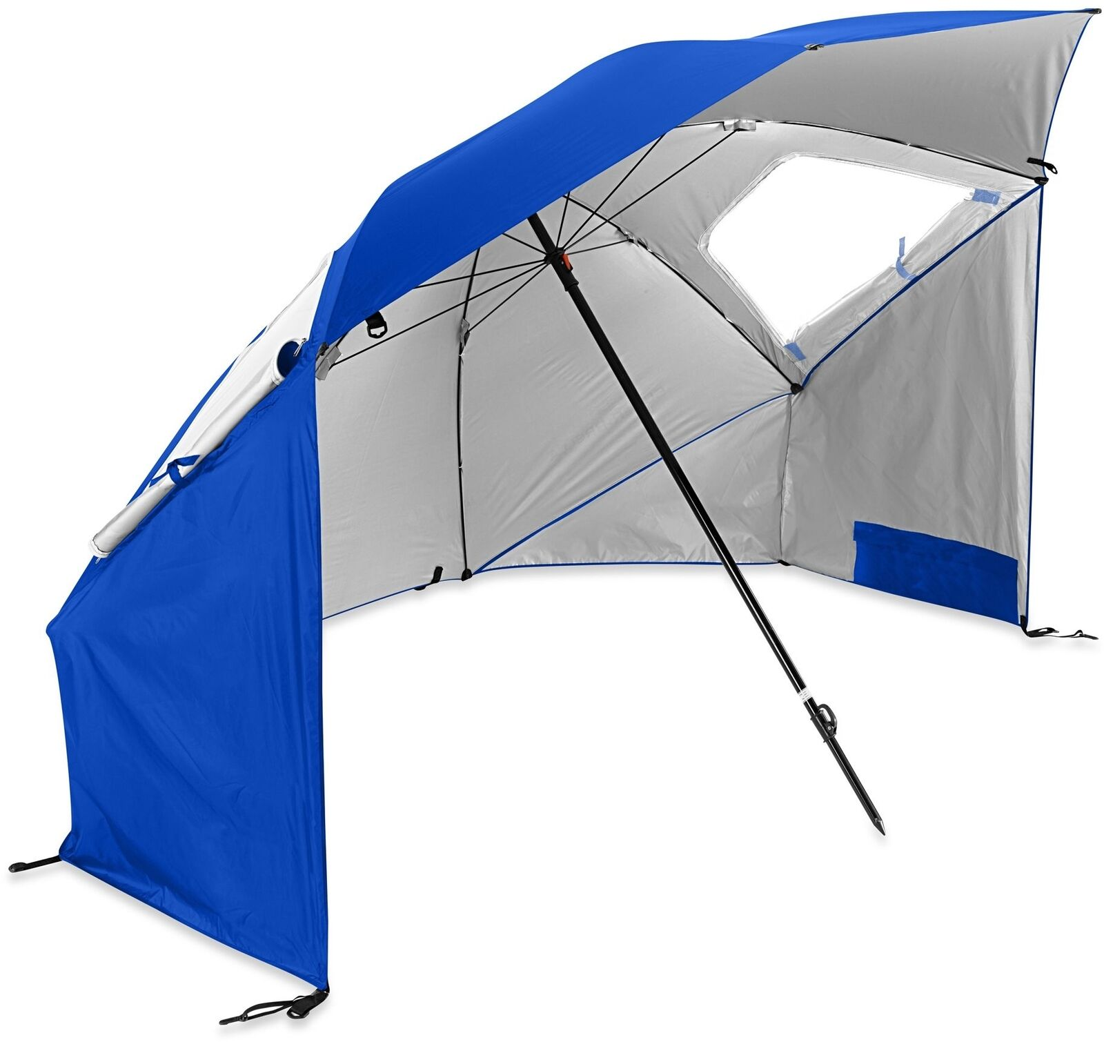 Outdoor  Portable Beach Umbrella Tent Sun Wind Shelter Shade UV Predect in bluee  not to be missed!