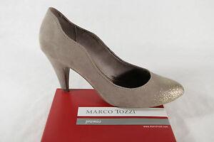 Details zu Marco Tozzi Pumps, beigegold, Synthetik NEU!