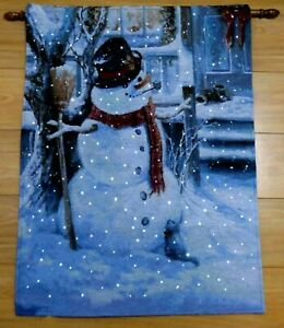 The-Snowman-Christmas-Hanging-Tapestry-LED-Fibre-optic-Lights-Decoration-NEW-LGW