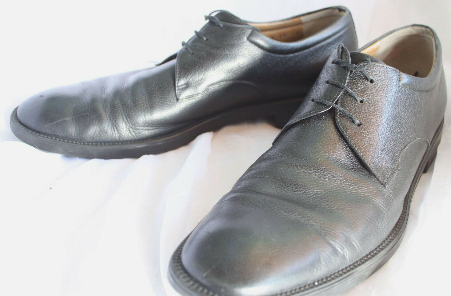 Salvatore Ferragamo Mens Black Leather Oxford new shoes shoes Size 11B Made in