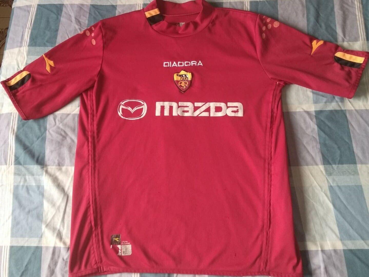Camiseta Maglia Shirt ROMA Diadora Season 2004 Size XL Vintage Used