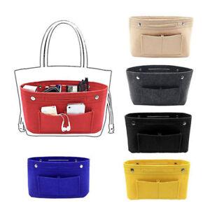 Women-039-s-Handbag-Organizer-Bag-Purse-Insert-Bag-Felt-MultiPocket-Tote-Bags-New-D