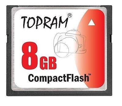 TOPRAM 1GB CF 1G Compact Flash 120X memory card high Speed SLC w//case