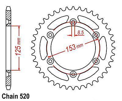 HONDA CRF150F CRF 150 F SPROCKET 13//48 /& EK SRO-6 O-RING CHAIN SET 2003-2005 BLK