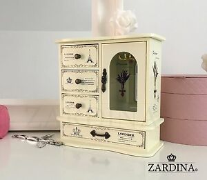 Laura Fairy Tale Wooden Jewellery Box Cabinet with 4 Drawers