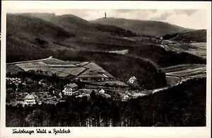 1949-Stempel-Detmold-auf-s-w-AK-Teutoburger-Wald-Panoramablick-mit-Berlebeck