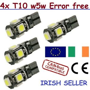 4-Pcs-T10-Error-Free-W5W-Canbus-LED-White-Bulb-Side-Parking-Light-6000K-HID