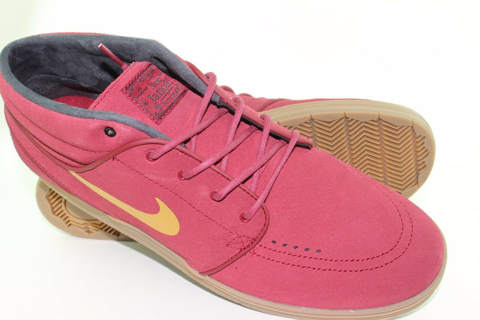 NIKE LUNAR STEFAN JANOSKI MID MEN SIZE 8.0 TEAM RED RED RED NEW RARE AUTHENTIC 4bd454