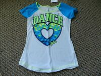 Justice Green/blue/white Dance Heart Top Size 8