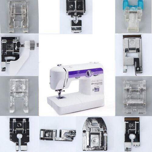 Multi Function Domestic Sewing Machine Presser Foot Feet Accessories 11 Pcs//Set