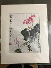 CN103 HANDPAINTED ORIENTAL ART CHINESE COLOR INK  BRUSH  PAINTING QINGYUNZHISHAN