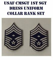 Usaf Chief Master First Sergeant Enameled Dress Rank Cmsgt Us Air Force Set