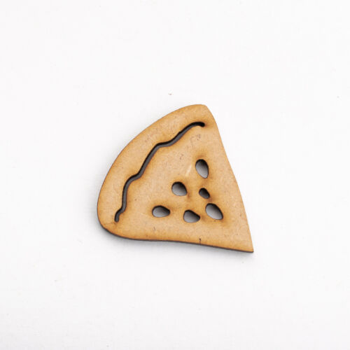 Wooden MDF Shapes Crafts Pizza Scrapbook Embellishments Decoration Card Making