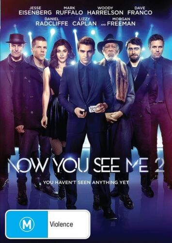 """1 of 1 - NOW YOU SEE ME 2 : The Second Act : NEW DVD """"FREE POSTAGE"""" Morgan Freeman"""