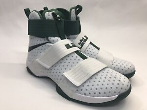 720503698d0 NEW Nike Mens LeBron Soldier 10 X High-top White Green Size 16 ...