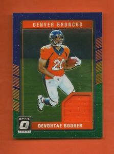 new arrival 7c662 f894e Details about DEVONTAE BOOKER - 2016 Panini Donruss Optic Rookie Threads  Jersey RC - Broncos