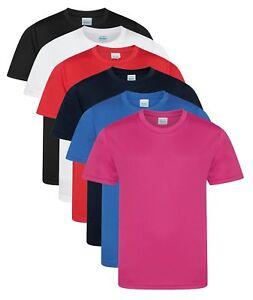 nino-nina-infantil-secado-rapido-deportivo-transpirable-liso-poliester-camiseta