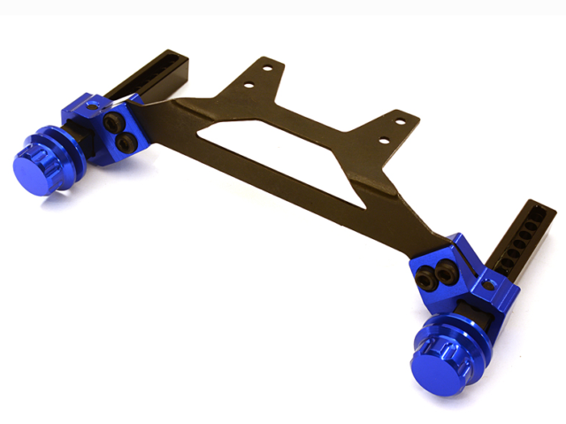 Integy Adjustable rear Body Mount & Post Set for Traxxas 1/10 Slash 2WD Blue
