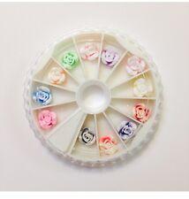 NEW Cute Fashion Nail Art 3D Rose Decoration 12pcs